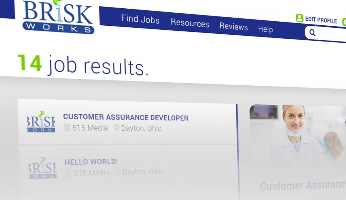 BRiSK WORKS: The New Job Board Web Application